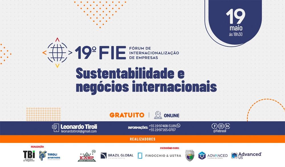 Cartaz da FIE - Forum de Internacionalização de Empresas