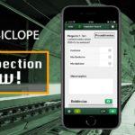 Tela mostrando no nome do aplicativo Inspection Now e um print do celular